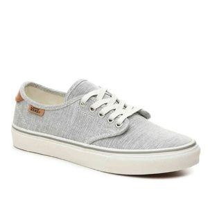 VANS Gray Camden Deluxe Ortholite Canvas Sneakers